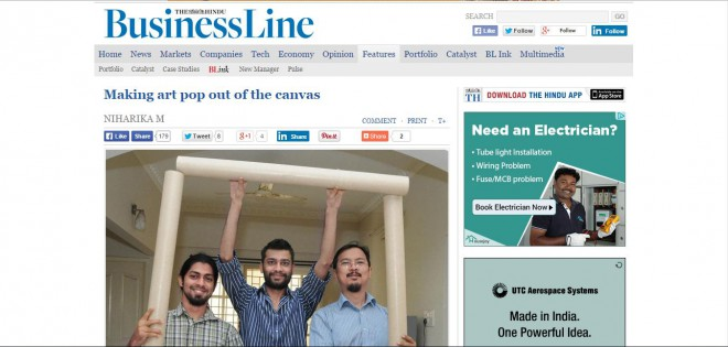 Hindu Businessline, one of the most widely read business papers in India, writes about Cupick.