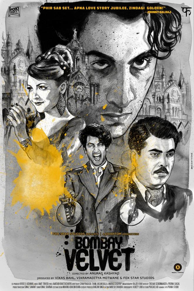 Bombay Velvet fan poster submission by RJ Artworks