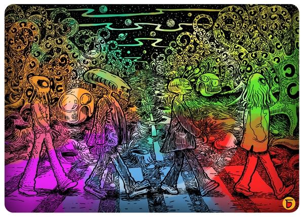 The Alien Beatles by Charbak Dipta | Cupick