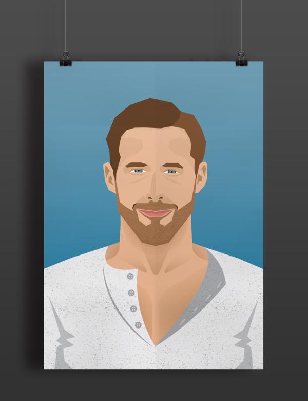 Ryan Gosling by Harshvardhan Gantha