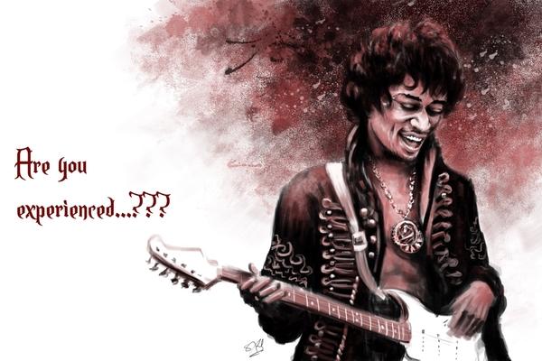 Jimi Hendrix by Satyaki Sarkar  | Cupick