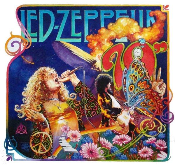 Led Zeppelin:Flower by Alex Oazen