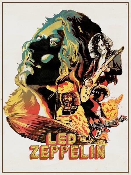 Zeppelin on Fire by R.J. Artworks | Cupick