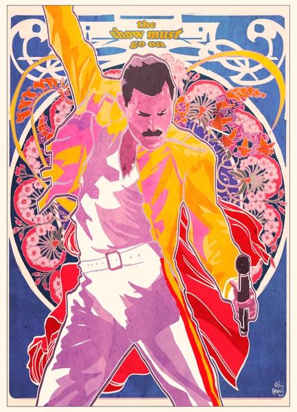 Freddie Mercury by The Painter of Oz | Cupick