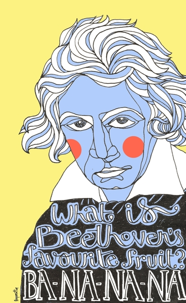 Beethoven's Favourite Fruit by Ragamuffin Illustration | Cupick