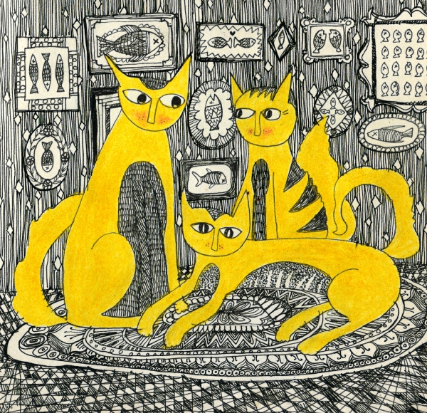 The Cat family and their heirlooms by Rucha Dhayarkar | Cupick