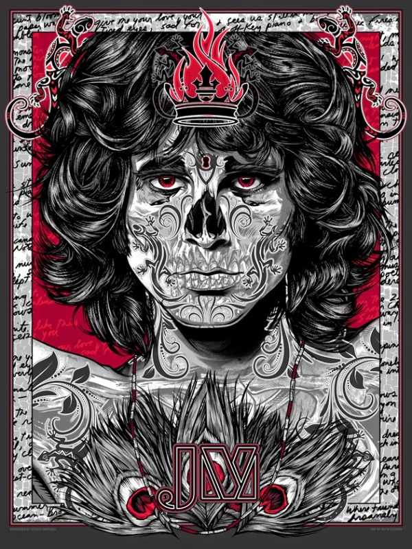 Jim Morrison Lizard King by Rhys Cooper