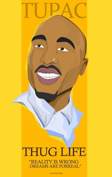 Tupac Shakur by Panini Pandey