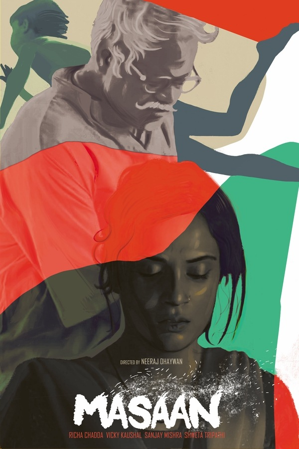 Masaan Fan Poster Design by Shaani Aurkya