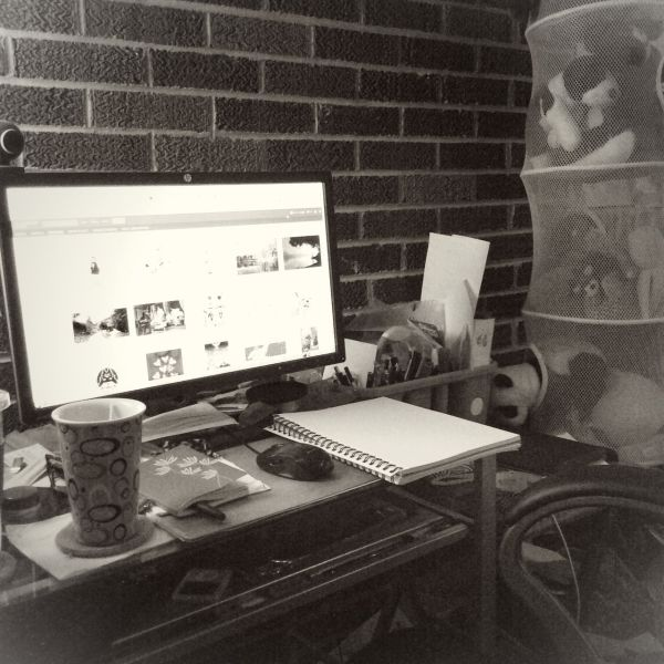 Christina's Work Station