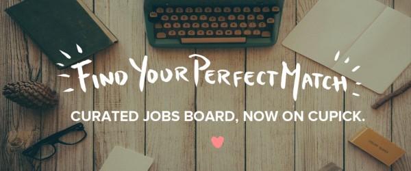 Creative jobs board on Cupick
