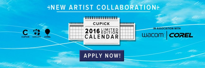 Cupick 2016 Limited Edition Calendar in association with Wacom and Corel