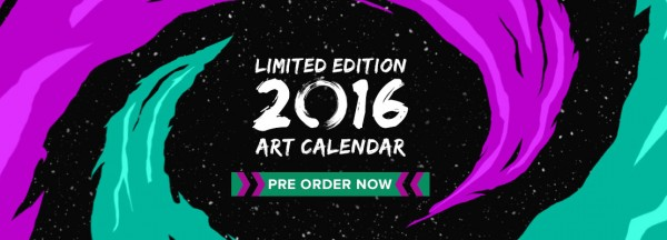 Preorder the Cupick 2016 Limited Edition Art Calendar