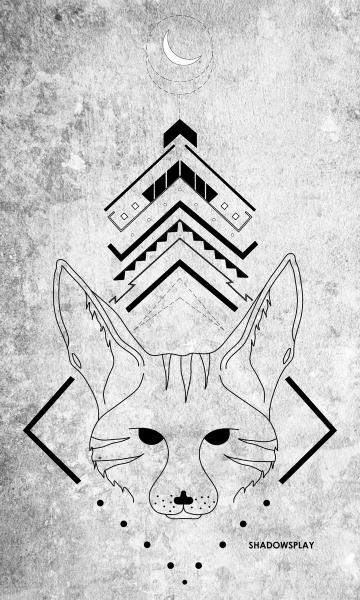 Tribal Fox by Amoolya Bhat