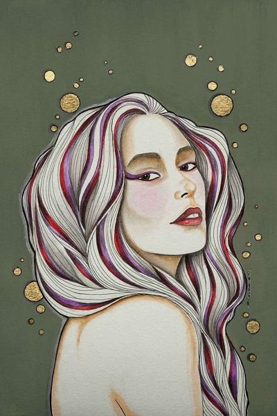 Violet Gaze by Bhavana SN